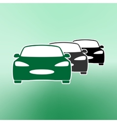 E-car Eco car Electric icon Charging electric vector image