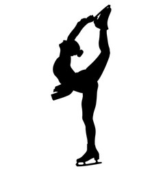 Figure skating woman athlete vector