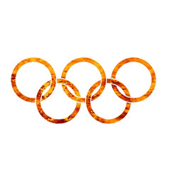 Flaming olympic rings vector