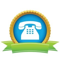 Gold Telephone logo vector