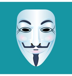 Guy fawkes mask stylized depiction isolated vector