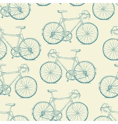Hand-drawn Bicycles Seamless Pattern Vintage retro vector