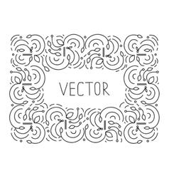 Hand drwan frame floral monogram design emblem vector image