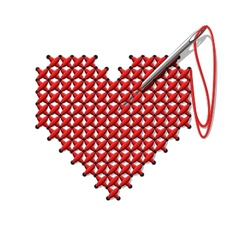 hand-made heart vector image