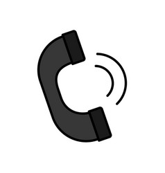 handset phone icon vector image vector image