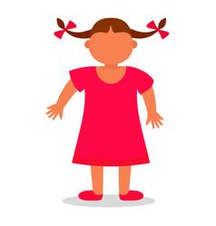happy girl kid icon flat style vector image