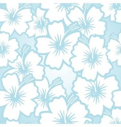 Hibiscus floral pattern vector