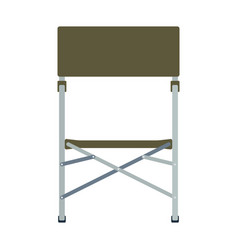 icon of fishing folding chair vector image