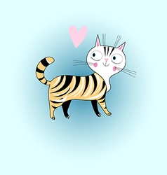In love with a cat vector