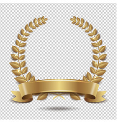 laurel wreath isolated transparent background vector image
