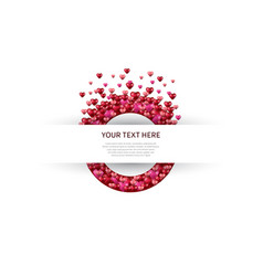 Love design with circle on white background vector