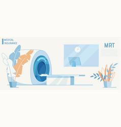 Magnetic resonance imaging medical insurance item vector
