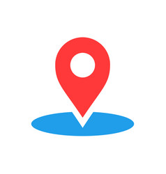Map pointer in flat style gps navigation mark on vector