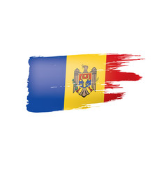 Moldova flag on a white vector