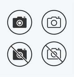 no photo icon for graphic and web design vector image