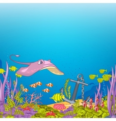 Ocean Underwater Cartoon vector image