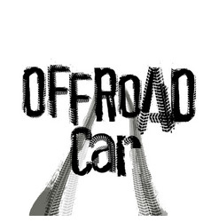 off-road lettering image vector image