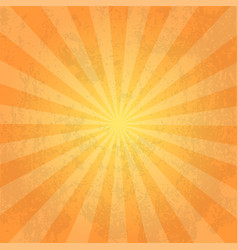orange color burst background or sun rays vector image