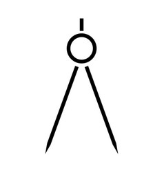 Pair of compasses the black color icon vector