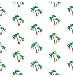 Palm trees pattern vector