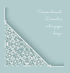 Paper lace corner vector