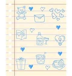 Paper love theme hand draw vector