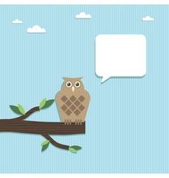 paper owl vector image