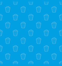 popcorn pattern seamless blue vector image