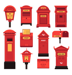 post boxes and services for people to communicate vector image