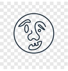 quasimodo concept linear icon isolated on vector image