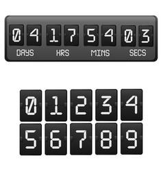 realistic detailed 3d black countdown timer vector image