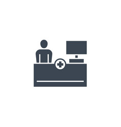 reception related glyph icon vector image
