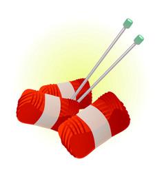 Red yarn vector