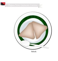 Saksak or Papua New Guinean Food vector