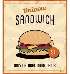 Sandwich icon Menu and food design vector
