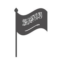 Saudi arabia national day flag in pole patriotism vector