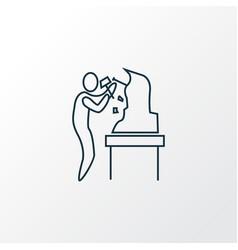 sculpting icon line symbol premium quality vector image