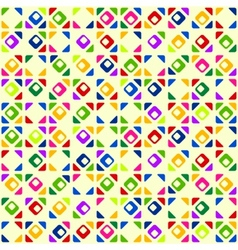 Seamless bright geometric pattern vector image vector image