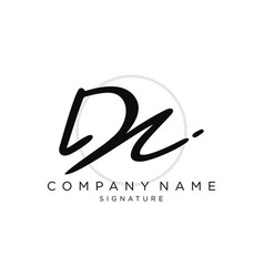 signature initial logo template vector image