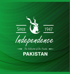 Since 1947 pakistan independence day label design vector
