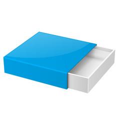 Slider box blue blank open box mock up vector