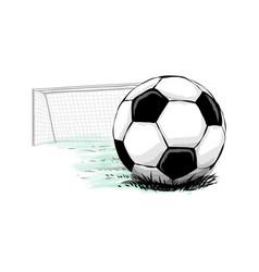Soccer ball goal vector