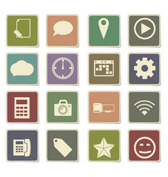 Social media icon set vector