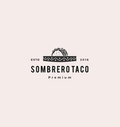 sombrero hat taco logo icon vector image