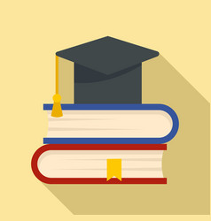 stack of books icon flat style vector image