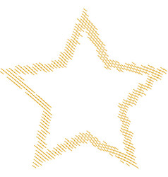 Star shape stitched patch frame embroidery seam vector