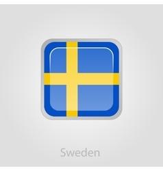 Sweden flag button vector