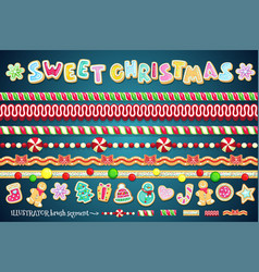 sweet christmas design element vector image