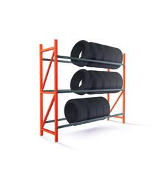 Tire rack storage vector