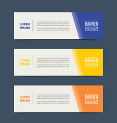 triangle banner template design with horizontal vector image